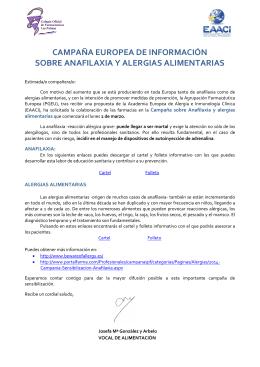 Campaña Europea de Información sobre Anafilaxia y Alergias