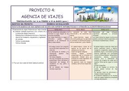 PROYECTO 4: AGENCIA DE VIAJES