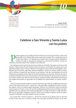 Celebrar a San Vicente y Santa Luisa con los pobres