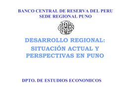 desarrollo regional: situación actual y perspectivas en puno