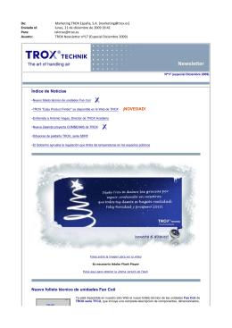 Índice de Noticias Nuevo folleto técnico de unidades Fan Coil