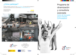 Programa de dinamización y consultoría avanzada