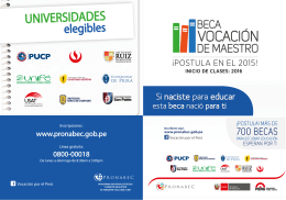 Folleto - Beca Vocación de Maestro 2015