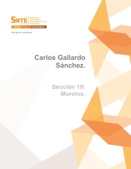 Carlos Gallardo Sánchez.