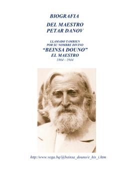 "BIOGRAFIA DEL MAESTRO PETAR DANOV ""BEINSA DOUNO"""