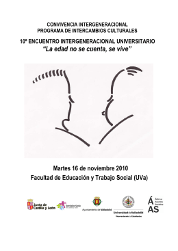 folleto encuentro intergeneracional 2010