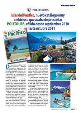 Islas del Pacífico, nuevo catálogo muy ambicioso que acaba de