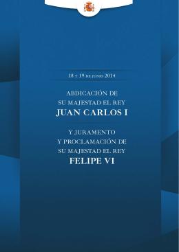 Dossier informativo sobre la Proclamación de Felipe VI