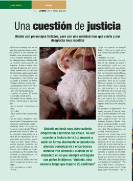 Una cuestión de justicia