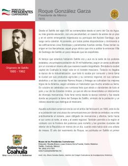 Descargar biografía - Museo de los Presidentes Coahuilenses