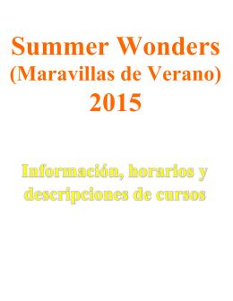 (maravillas de verano) 2015 - Woodland School District 50
