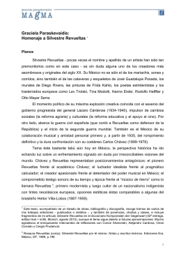 Graciela Paraskevaídis: Homenaje a Silvestre Revueltas - GP