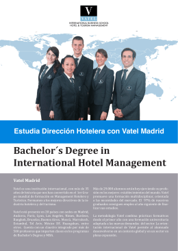 Bachelor´s Degree in International Hotel Management
