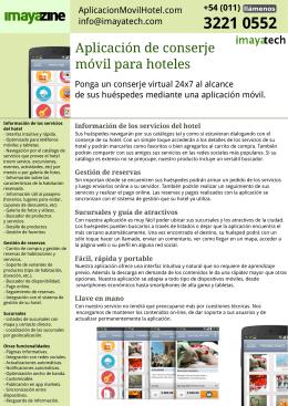 Aplicación de conserje móvil para hoteles