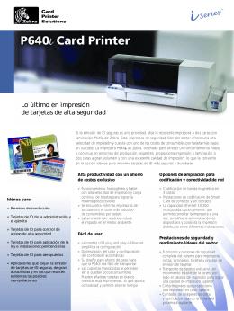 Lo último en impresión de tarjetas de alta seguridad