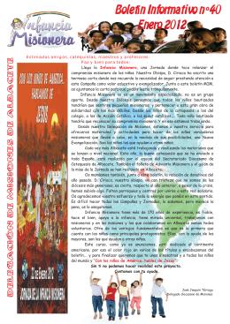 nº 40 - enero 2012 - Misiones Albacete