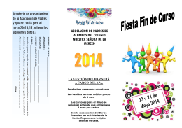 folleto fiesta fin de curso 2013