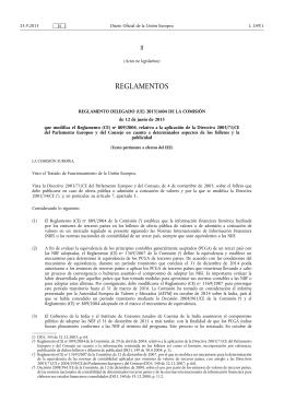 REGLAMENTO DELEGADO (UE) 2015/ 1604 DE LA