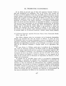 EL TRIMESTRE ECONÓMICO 498
