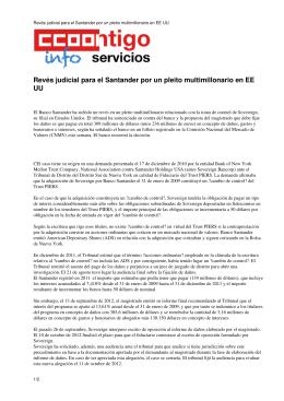 Revés judicial para el Santander por un pleito multimillonario en EE