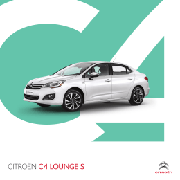 Folleto Citroën C4 Lounge S