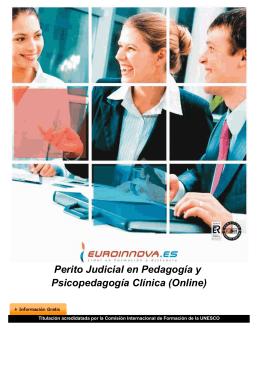 Perito Judicial en Pedagogía y Psicopedagogía Clínica (Online)