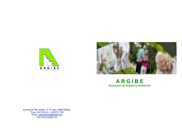 folleto Argibe - Argibe voluntariado
