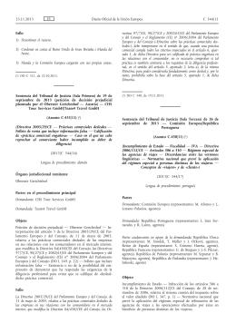 Sentencia del Tribunal de Justicia (Sala Tercera) de 26 de