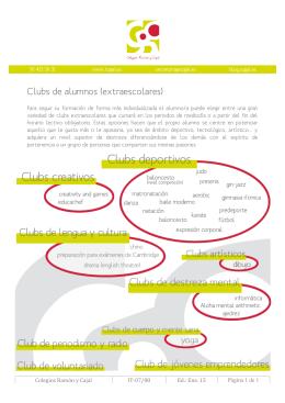 Clubs de alumnos (extraescolares)