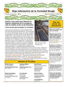 Hough Newsletter November 2012 Spanish.pub
