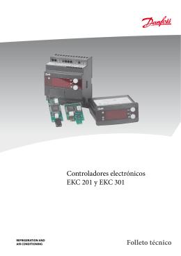 Controladores electrónicos EKC 201 y EKC 301 Folleto técnico