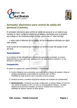 Sorteador electrónico para c personal (Cacheo). or