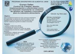 Folleto control.cdr - Programa Universitario de Alimentos