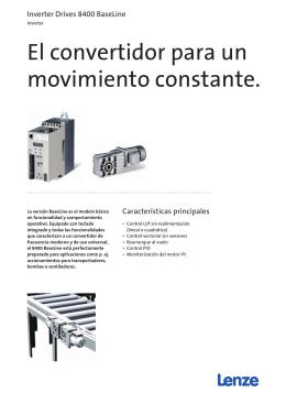 Folleto Inverter Drives 8400 BaseLine