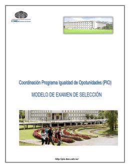 modelo prueba pio-usb - Coordinación Programa Igualdad de