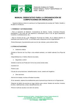 Manual de Organizadores - Federación Andaluza de Triatlón