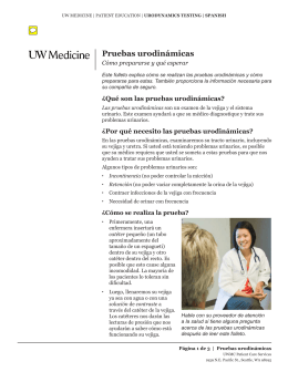 Pruebas urodinámicas - UWMC Health On-Line