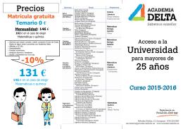 Folleto Informativo 2015-2016
