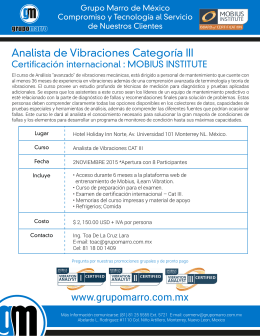 Folleto Promocional Cat III