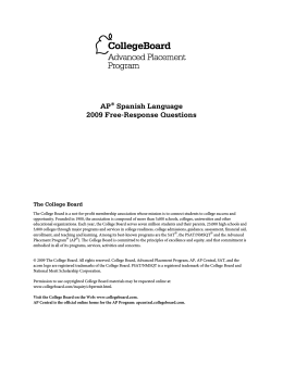 AP® Spanish Language 2009 Free-Response Questions