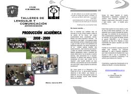 Folleto Producción Académica 2009 Área Talleres
