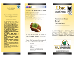 Folleto SIGMA - Responsabilidad Social Universitaria
