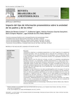 BRASILEIRA DE ANESTESIOLOGIA