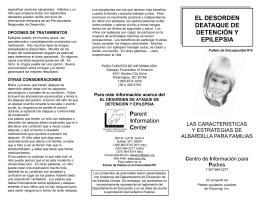 EL DESORDEN DEATAQUE DE DETENCIÓN Y EPILEPSIA