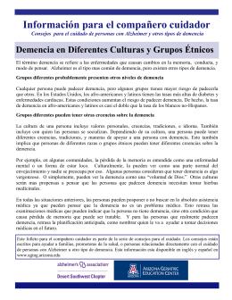 Demencia en Diferentes Culturas y Grupos Étnicos