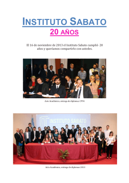 20 años - Instituto Sabato