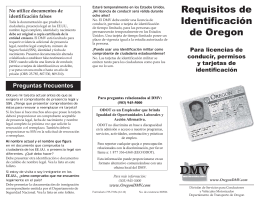Requisitos de Identificación de Oregon