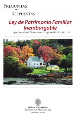 Ley de Patrimonio Familiar Inembargable