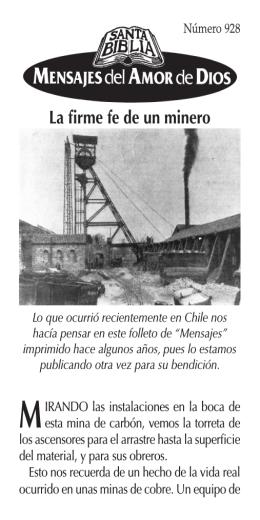 """No.928 - """"La firme fe de un minero"""""""