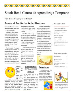 South Bend Centro de Aprendizaje Temprano